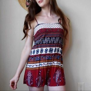 Urban Outfitters Lace Up Tribal Romper Size XS